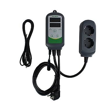 Inkbird ITC-308S Termostato Digital Calefaccion y Refrigeración con Sonda 220v Detachable, 2 Relés