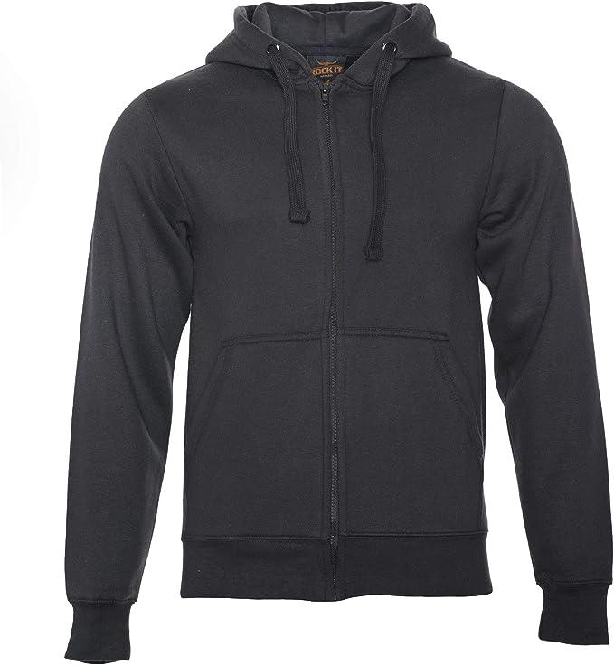 ROCK IT Apparel® Herren Kapuzenjacke Zipper Hoodie Kapuzen Sweater Jacke Workerhoodie Pullover Hoody Größen XS 5XL Farben Schwarz Grün Navy und Grau