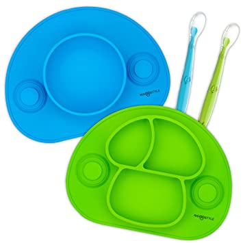 Baby Self-Conscious Baby Learning Dishes Spoon Fork Bowl Set Suction Cup Tableware Eating Feeding