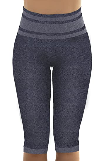 5bd241d5a Amazon.com  Sankom Posture Correction Yoga Capri Pants - Grey ...