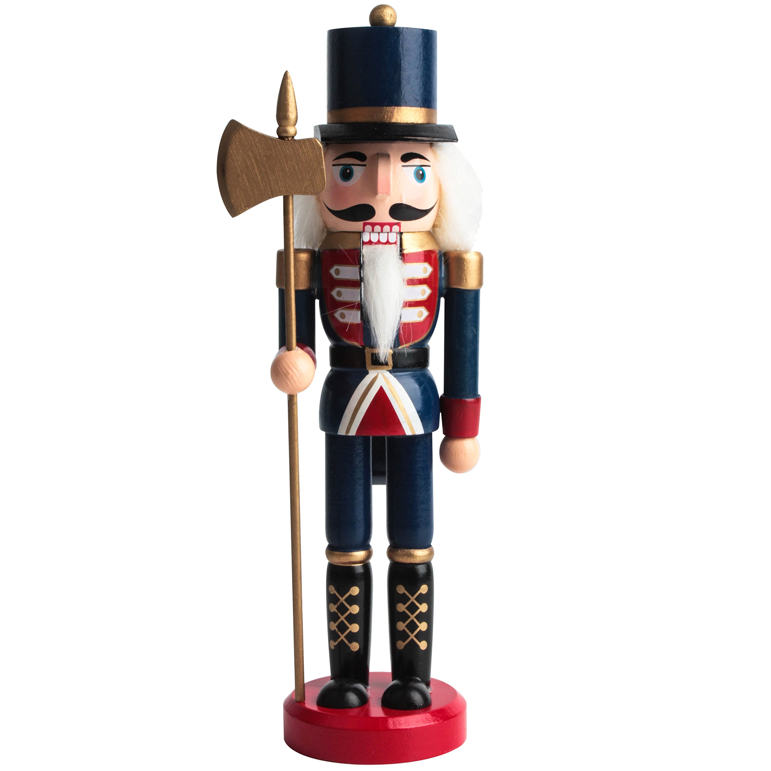Jusdreen 10.3'' Christmas Nutcracker Ornaments Christmas Day Decoration Xmas Puppet Soldiers - Wooden