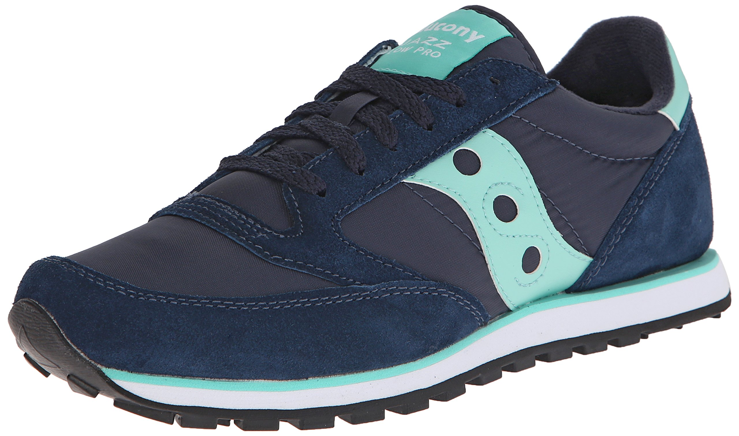 Saucony Originals Men's Jazz Lowpro Classic Retro Running Shoe, Navy/Mint, 8 M US