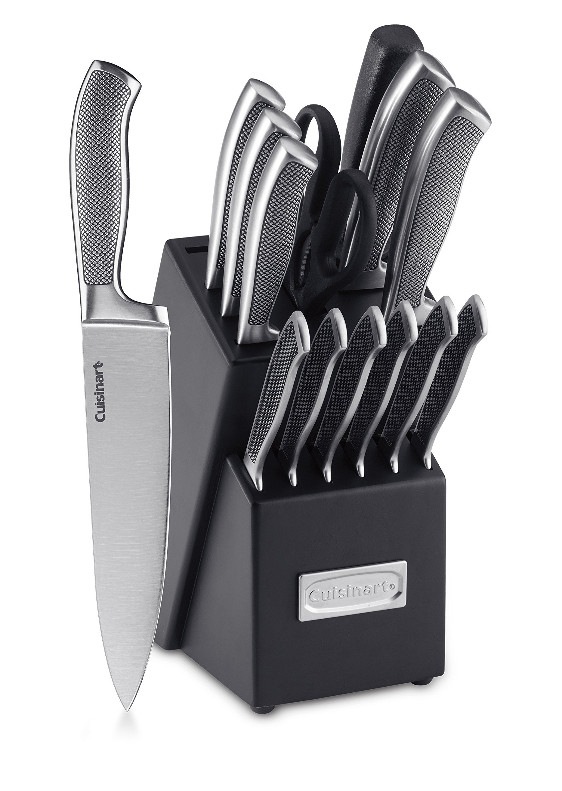 Cuisinart C77SS-15P Graphix Collection 15-Piece Cutlery Knife Block Set, Stainless Steel by Cuisinart