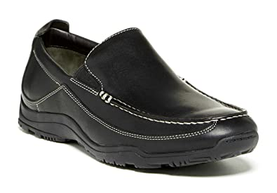 83efe830156 Cole Haan Men s Nike Air Hughes Venetian II Loafers Black Leather Shoes Wide  (10.5)