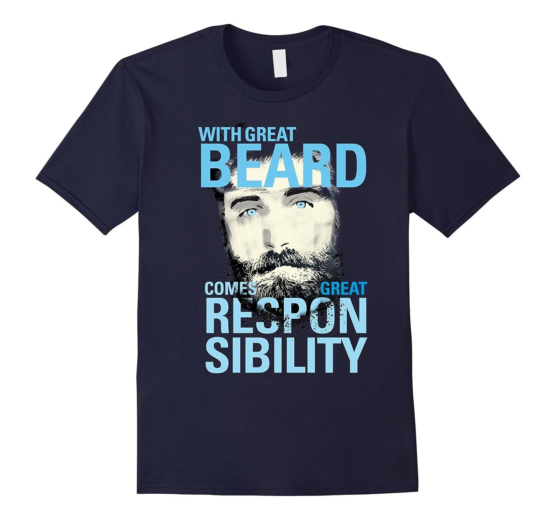 great beard hipster Respect Beard cool man T-shirt-CL