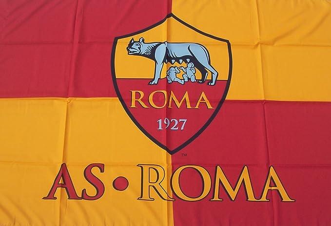 PRODOTTO UFFICIALE La as Roma de la Bandera 100x140cm Producto Oficial: Amazon.es: Deportes y aire libre