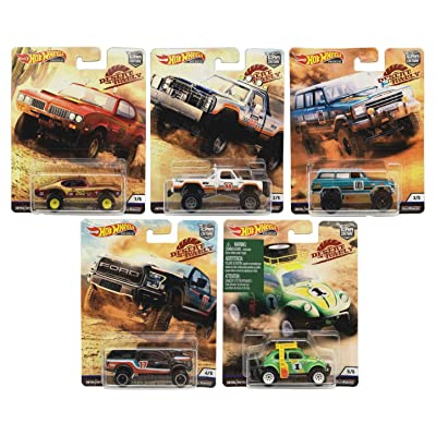Hot Wheels Premium 2020 Car Culture Desert Rally Set of 5: Toys & Games