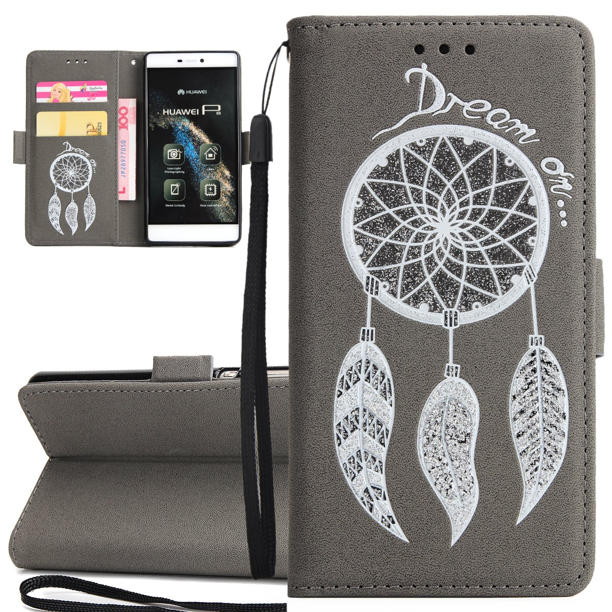 Amazon com: Huawei Ascend case, Huawei P8 Flip Cover