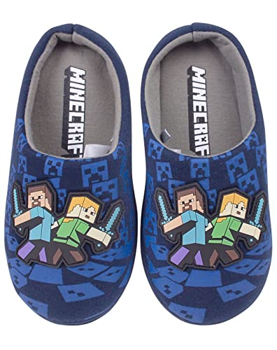 Minecraft Surrounded Boy s Slippers  Amazon.co.uk  Shoes   Bags c0b85541d