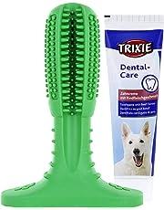 Hundezahnbürste - [2-in-1] Handliche Hunde Zahnbürste & Zahnpasta in einem Zahnpflege Komplett Paket für Ihren vierbeinigen Liebling - Gründliche Reinigung & Pflege für den Hund - Dog Teeth Cleaning