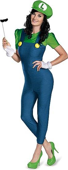 Disfraz de Luigi Mujer Deluxe S: Amazon.es: Juguetes y juegos