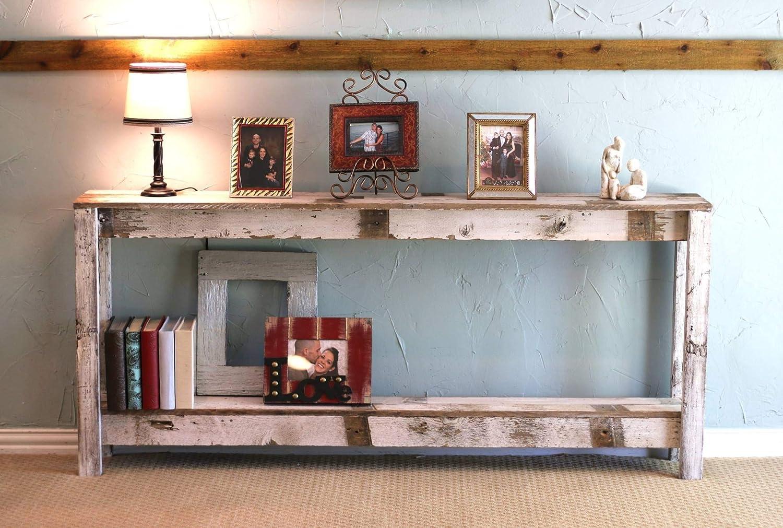 White Farmhouse 60 Inch Sofa Table