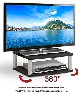 Ricoo Plateau Tournant Tv Fs053b Meuble Tv Led Support Téléviseur