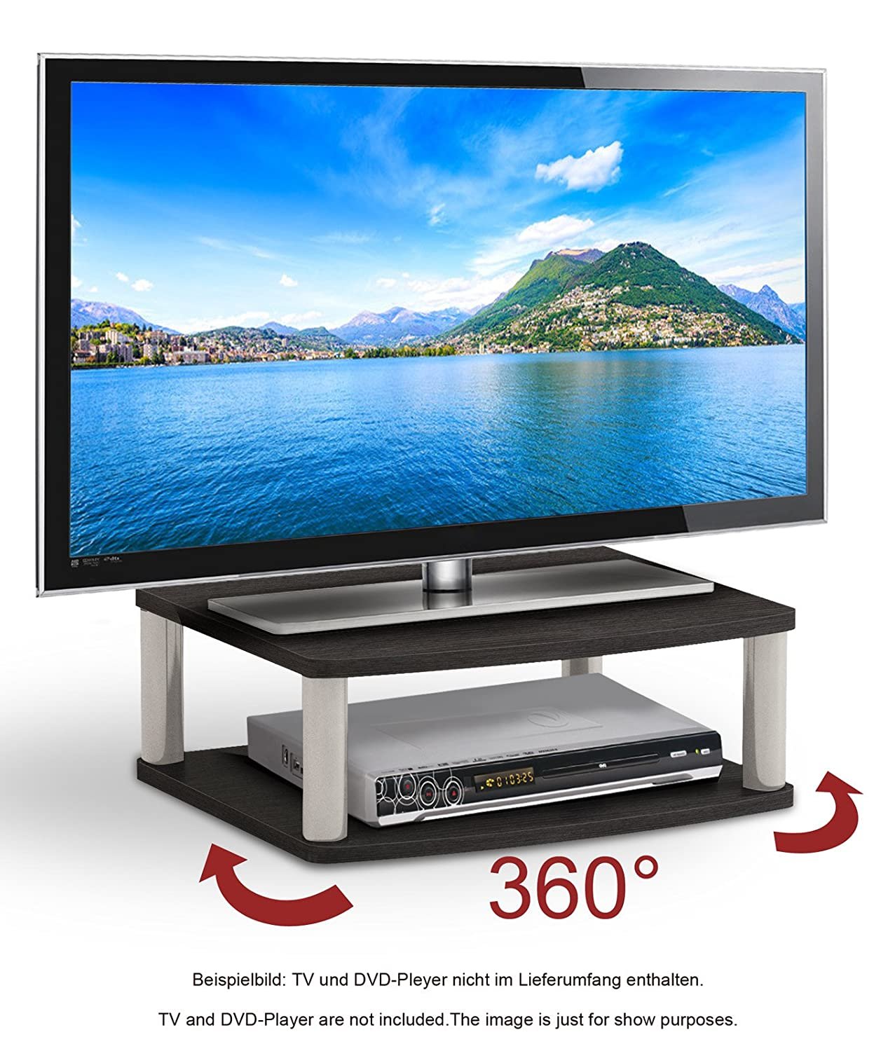 RICOO Rotary Wooden TV Stand Rack FS052B Monitor Mount: Amazon.co.uk:  Electronics