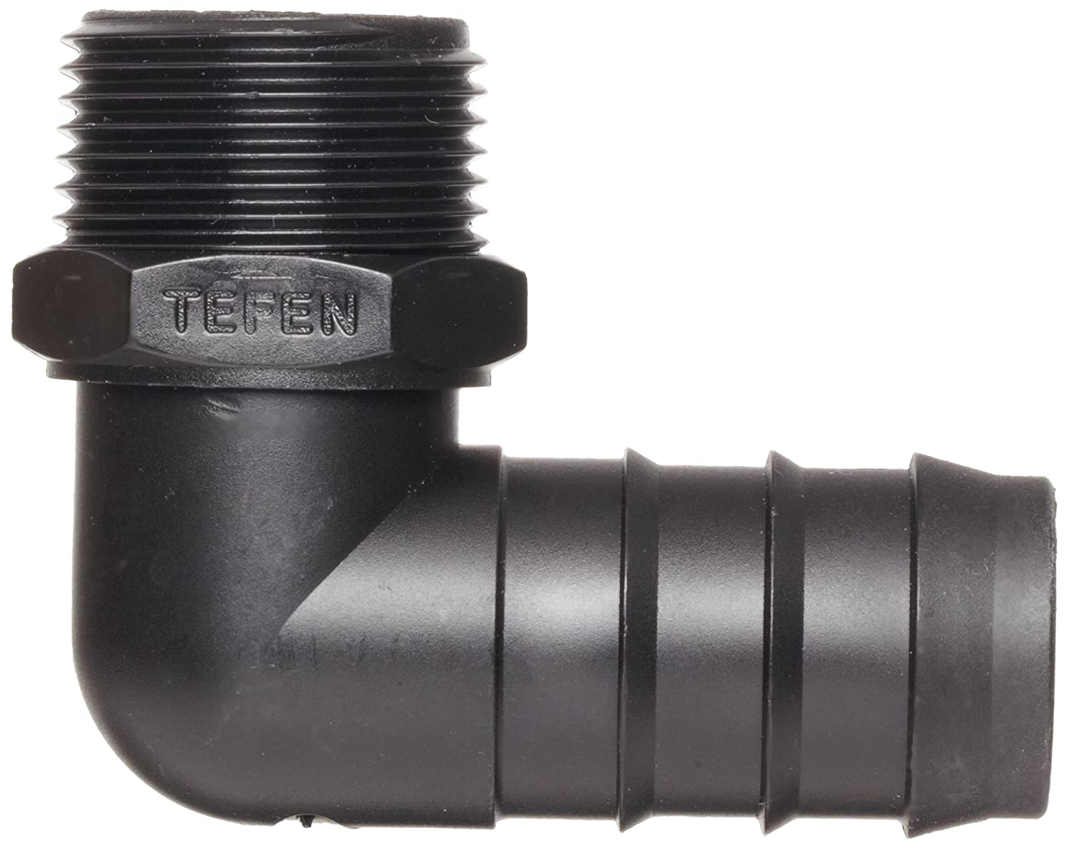 Pack of 10 12 mm Hose OD x 1//2 BSPT Male Tefen Polypropylene Hose Fitting 90 Degree Elbow Adapter Pack of 10 12 mm Hose OD x 1//2 BSPT Male Black Seelye Acquisitions 12456912082