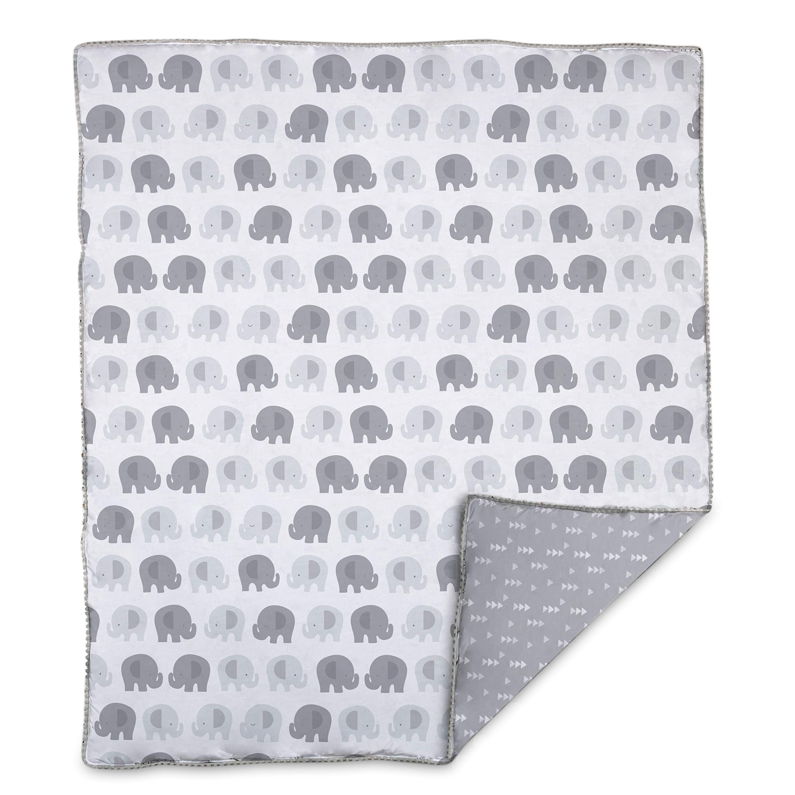 Lolli by Lolli Living Baby Comforter in Bailey Elephant Print. 100% Cotton Modern Baby Blanket (50x40 inch)