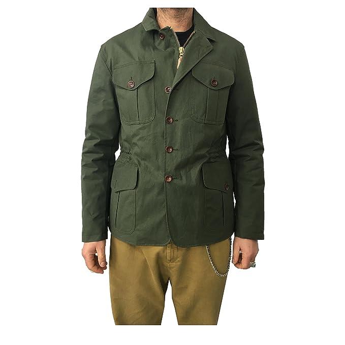 MANIFATTURA CECCARELLI giaccone uomo verde interno cuoio mod 7009 MADE IN  ITALY  Amazon.it  Abbigliamento 4be5ba66dd5