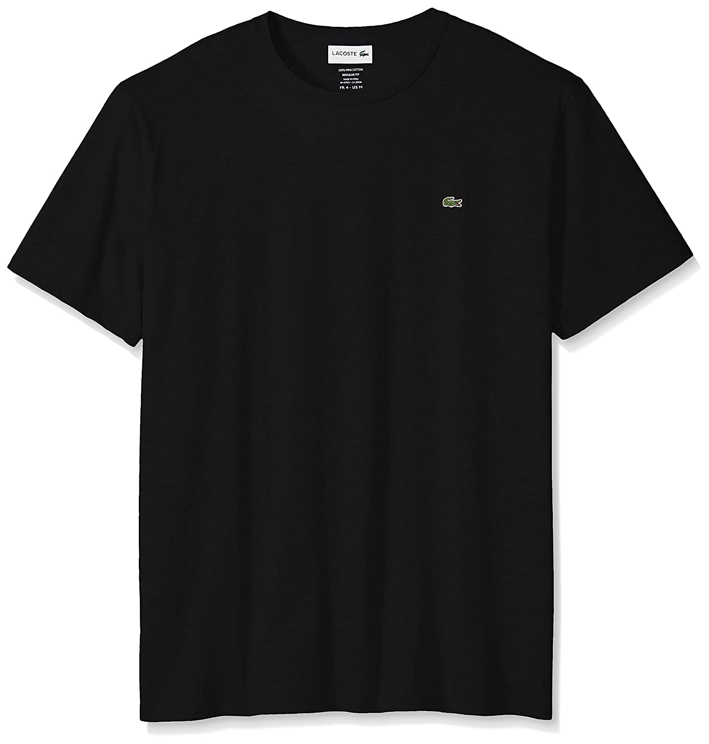 Lacoste Mens Short Sleeve Pima Crew Neck Tee