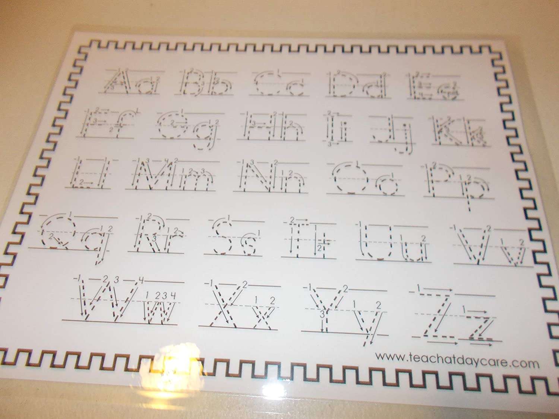 Single Laminated Directional Alphabet Tracing Worksheet.