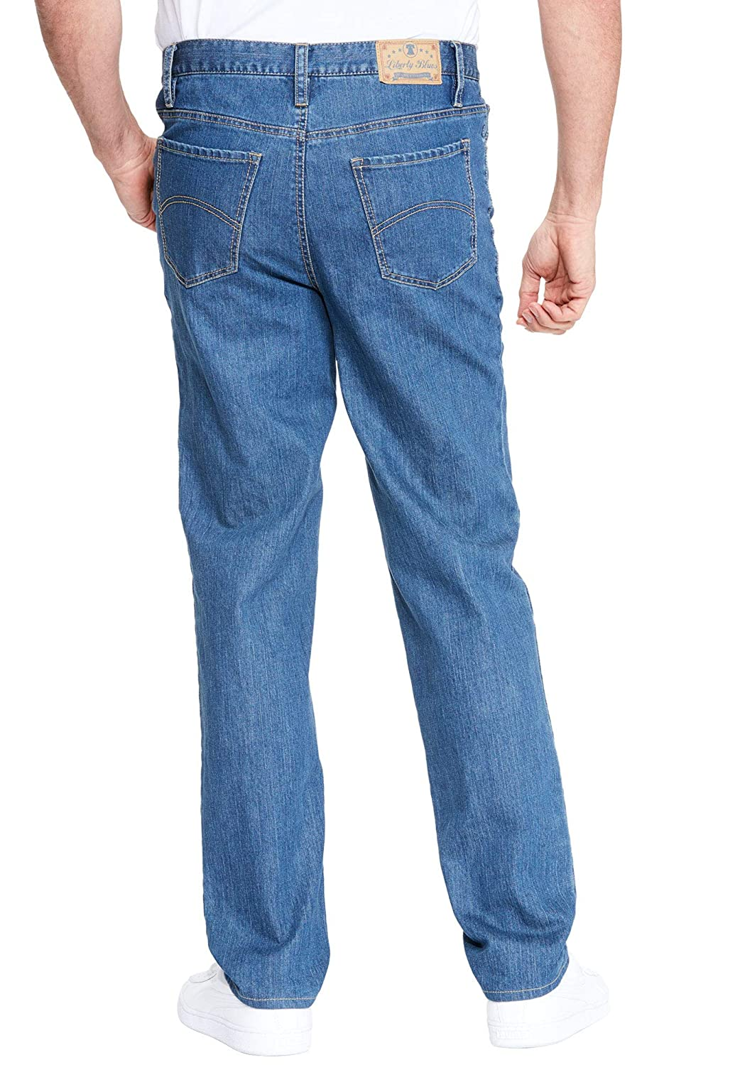 Liberty Blues Mens Big /& Tall Relaxed Fit 5-Pocket Stretch Jeans
