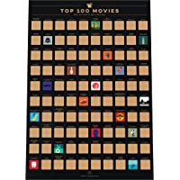 Enno Vatti 100 Movies Scratch Off Poster - Top Films of All Time Bucket List (42 x 59.4 cm)