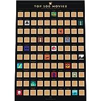 Enno Vatti 100 Movies Scratch Off Bucket List Poster - Liste des Films de Tous Les Temps (42 x 59.4 cm)