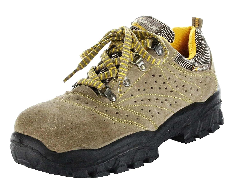 Cofra New Nilo S1 P SRC, Zapatos de Seguridad, Beige/Amarillo, 44 NT060-000.W44