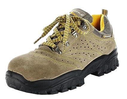 Cofra New Nilo S1 P SRC, Zapatos de Seguridad, Beige/Amarillo, 44