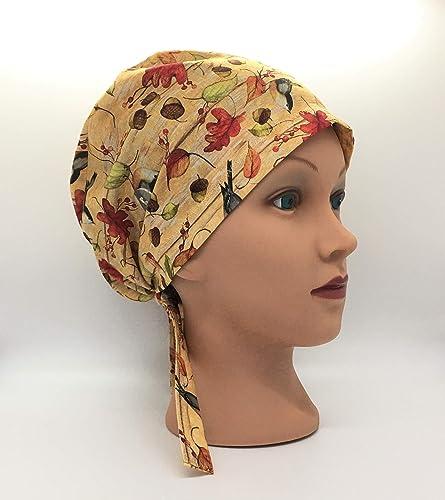 Matilda pink floral scrub hat scrub cap \u2013 short hair tie back