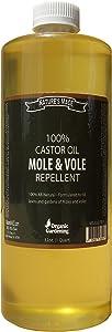 Nature's Mace Mole Repellent 100% Castor Oil-32oz Concentrate