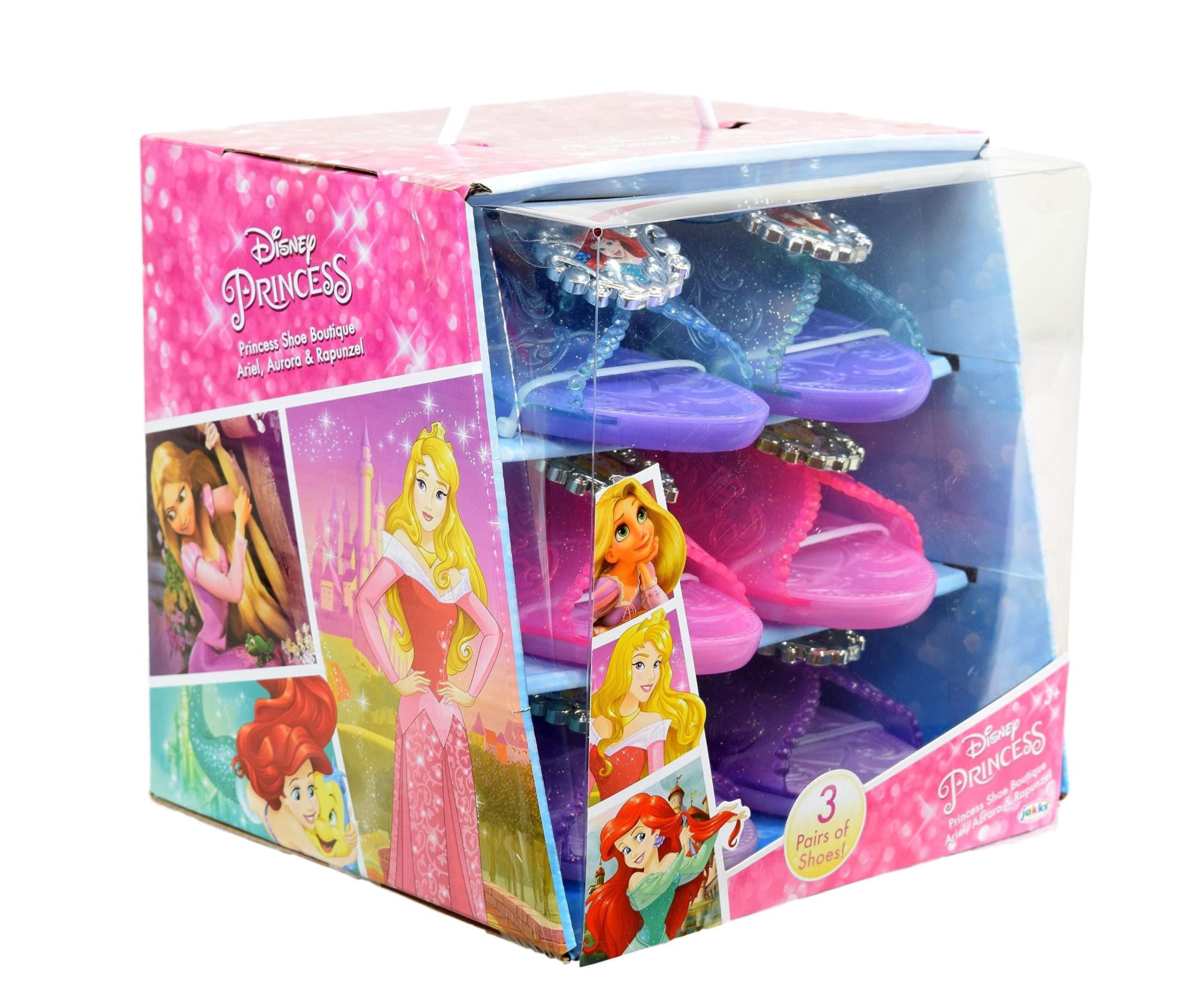 Disney Princess Shoe Boutique 3 Pack: Ariel, Rapunzel, Aurora