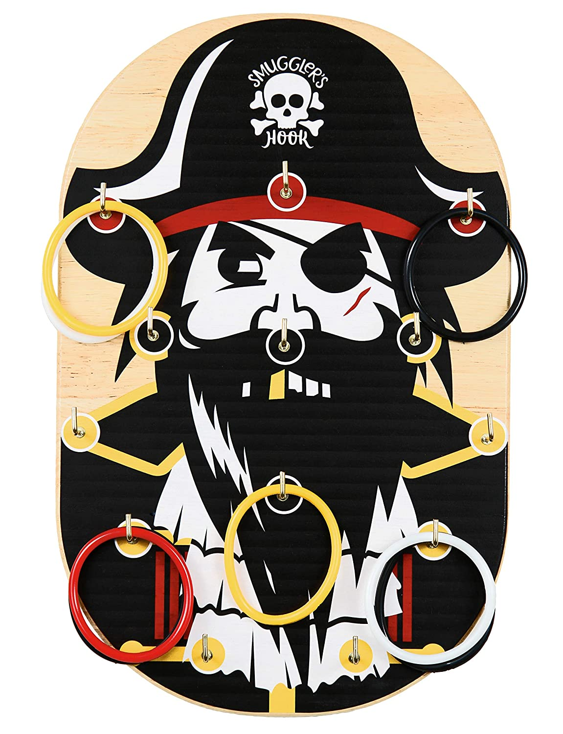 Teens Perfect for a Pirate Party and Adults Pirate Ring Toss Game  A Great Gift for Kids Classroom Party or Family Game Night Smugglers Hook