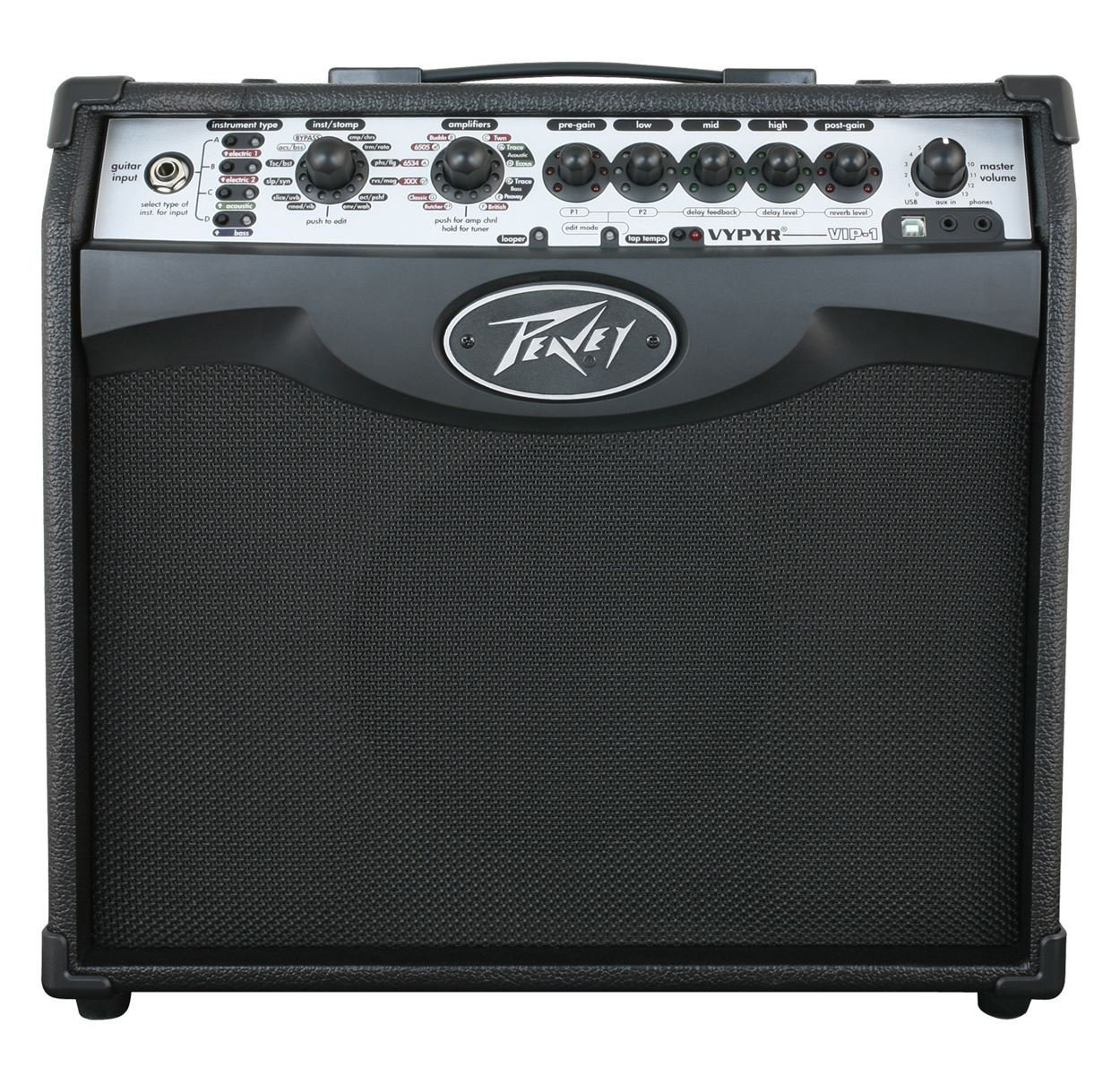 Peavey Vypyr VIP 1 20 Watt 1x8 Combo Practice Guitar Amplifier+Instrument Cable by Peavey (Image #3)