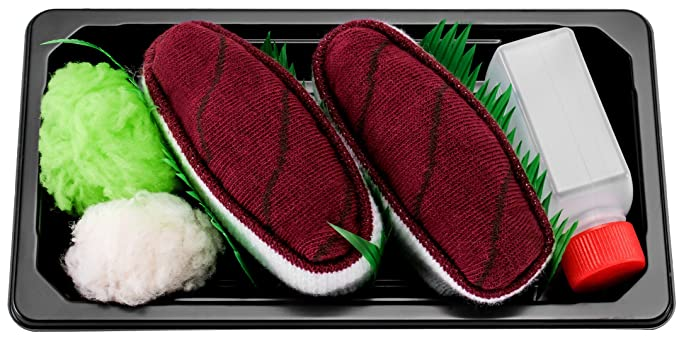 Sushi Socks Box - 1 par de CALCETINES: Nigiri Atún - REGALO DIVERTIDO, Idea