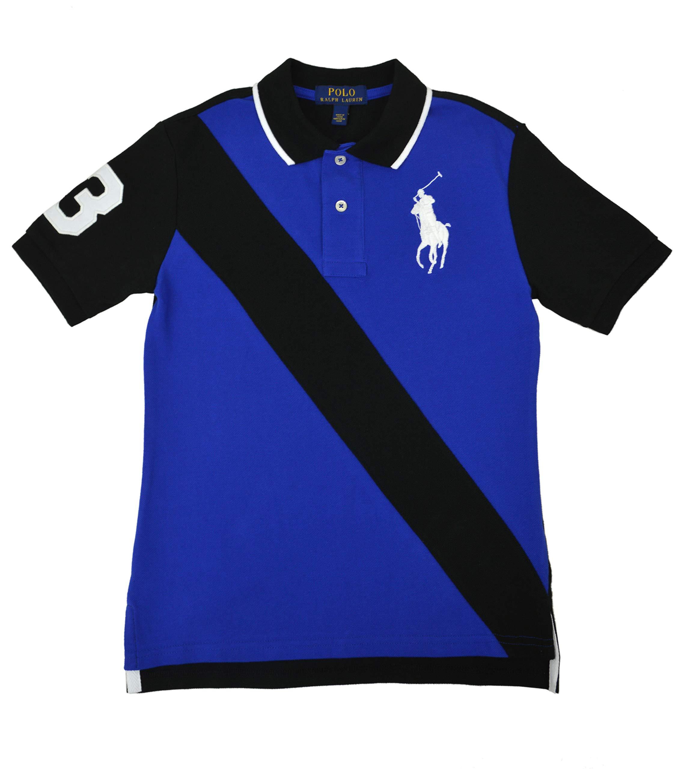 Polo Ralph Lauren Boys Toddlers Big Pony Sash Stripe Polo Shirt Royal Blue Black (7)
