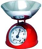 Orbegozo PC 1012 - Peso de cocina mecánico, rojo