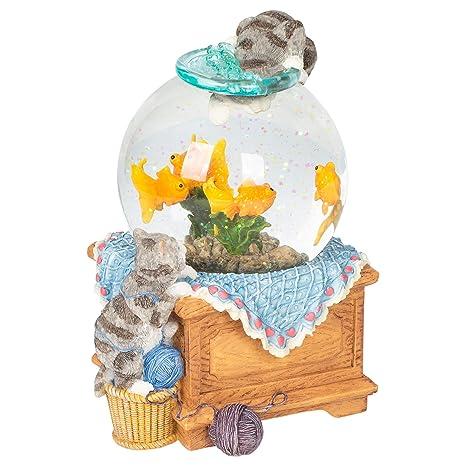 Bolas de nieve musicales- Bola de agua gatitos en pecera