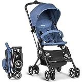 besrey passeggino disegno per aereo,2 secondi per apertura e pieghevole,superleggero per bambini da 6-36 mesi,colore blu/grigio/rosso