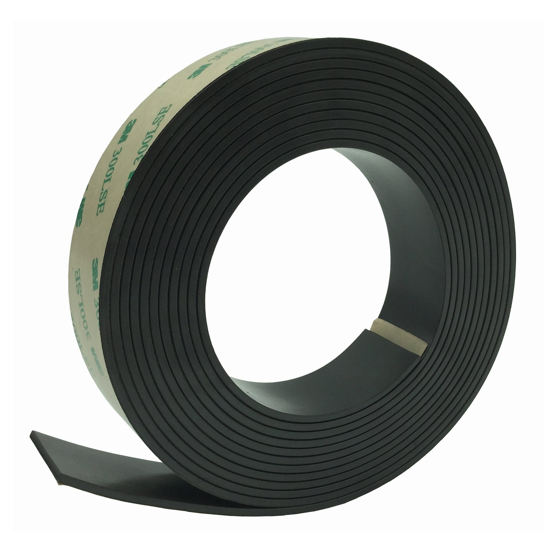 Anisotropic Strong Magnet Magnetic Strip Tape,Bingolar Strong Anisotropic Rubber Magnet tape Roll with Prime Sticky Adhesive,Ideal 1 Inch x 11 Feet Magnetic Roll for Craft and DIY Projects Sticky Magn