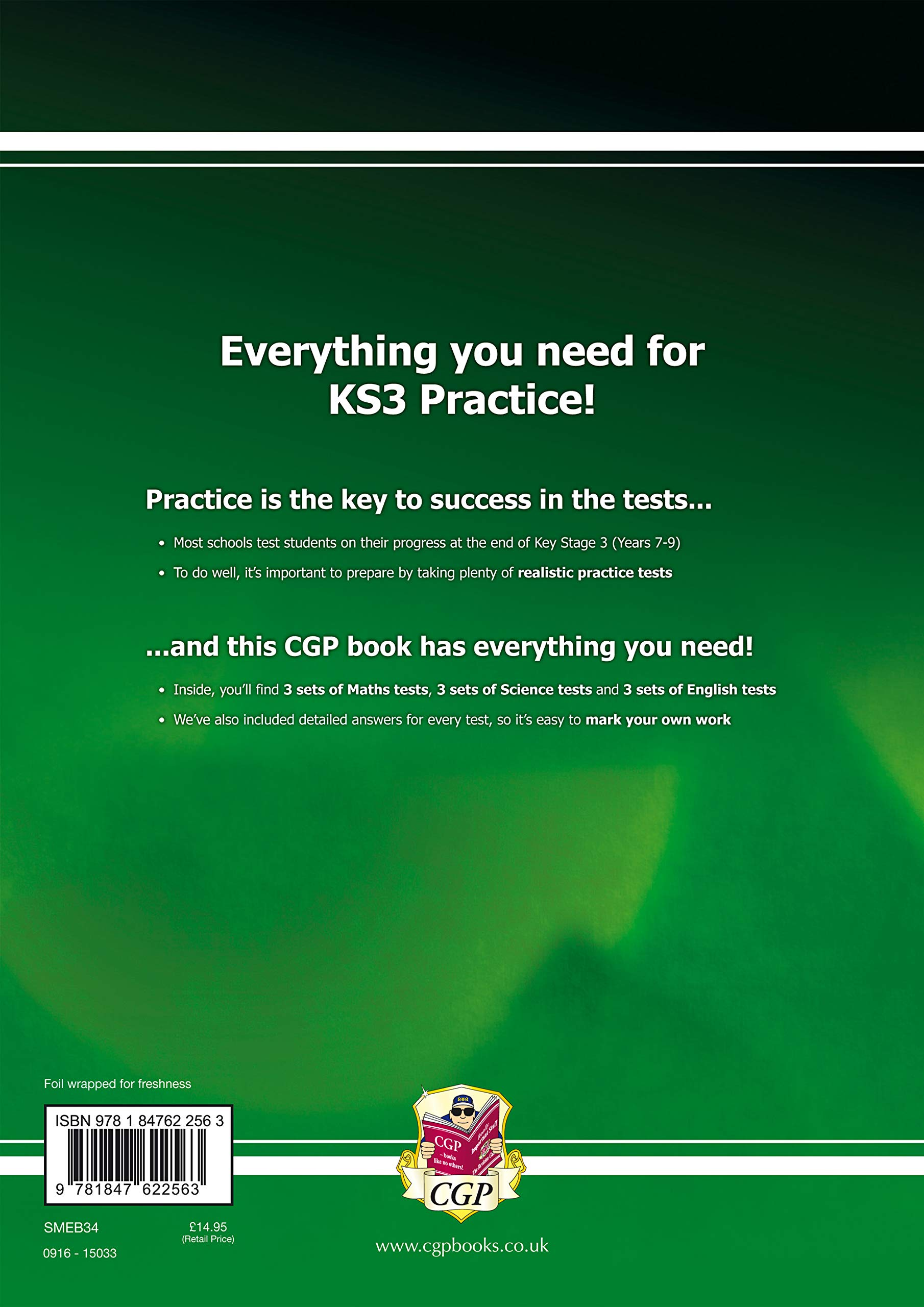 KS3 Complete Practice Tests - Maths, Science & English (CGP KS3