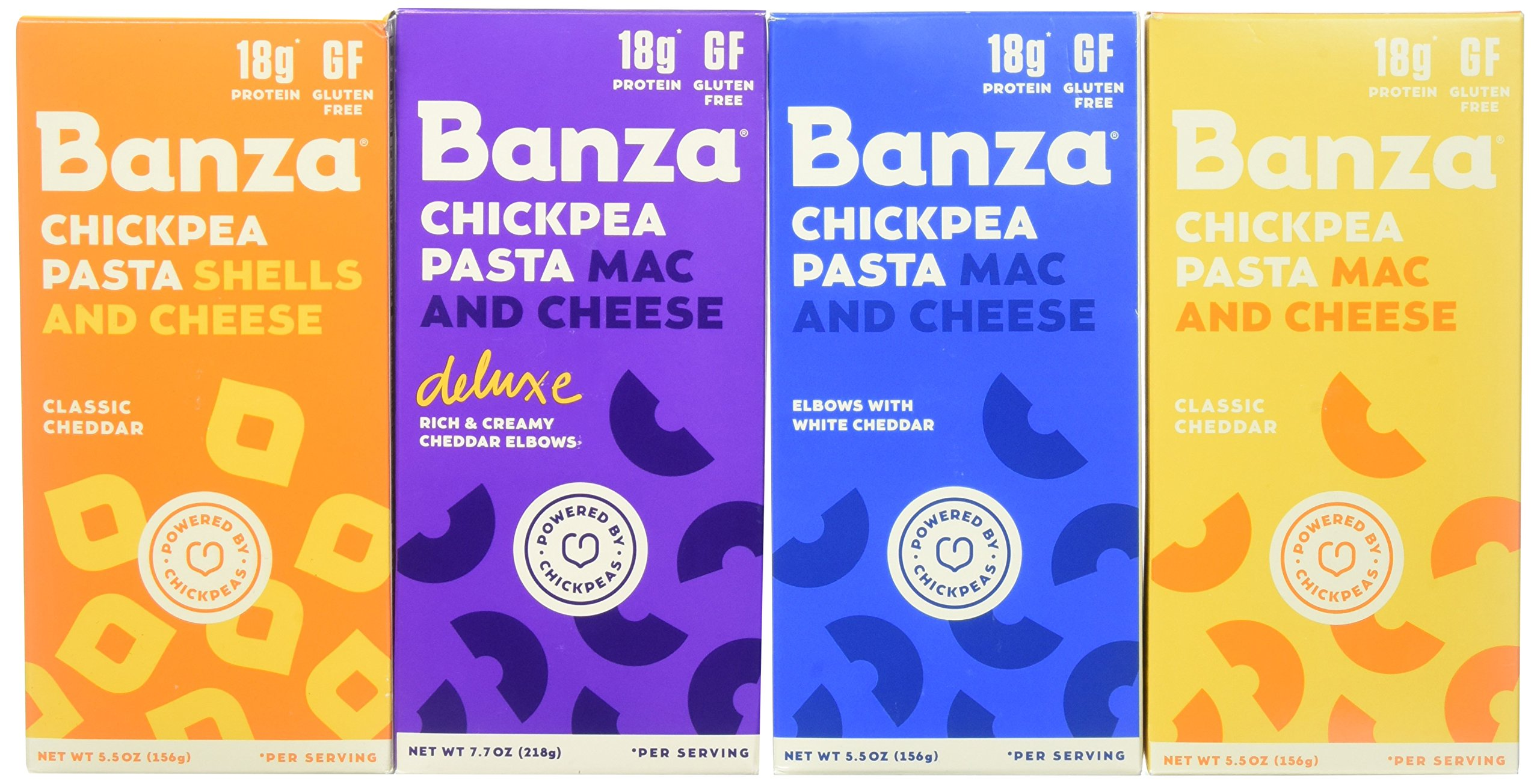 Banza Chickpea Pasta Mac & Cheese Variety Case (Pack of 6)