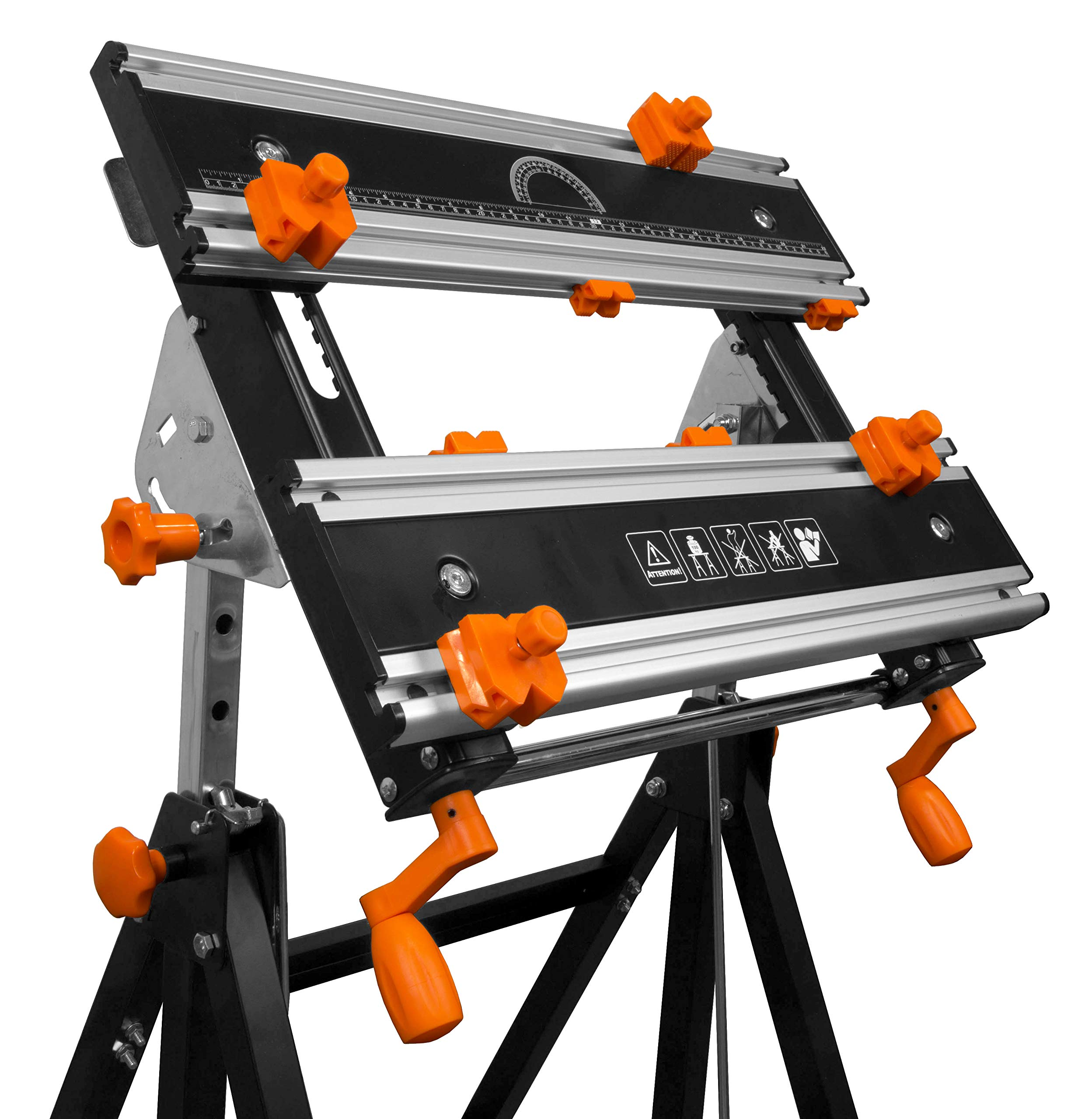 WEN 24-Inch Height Adjustable Tilting Steel Portable Work Bench and Vise with 8 Sliding Clamps WEN 24-Inch Height Adjustable Tilting Steel Portable Work Bench and Vise with 8 Sliding Clamps by Havipro (Image #4)