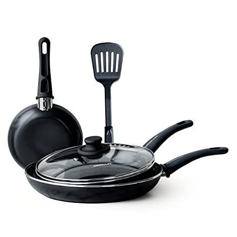 Amazon.com: GreenLife CC001577-001 Diamond Cookware Set de 5 ...