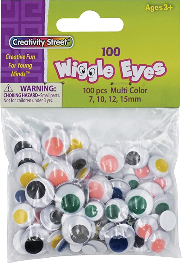 137 Per Pack 6 Packs Creativity Street CK-343802BN Peel /& Stick Wiggle Eyes on Sheets Assorted Sizes Black