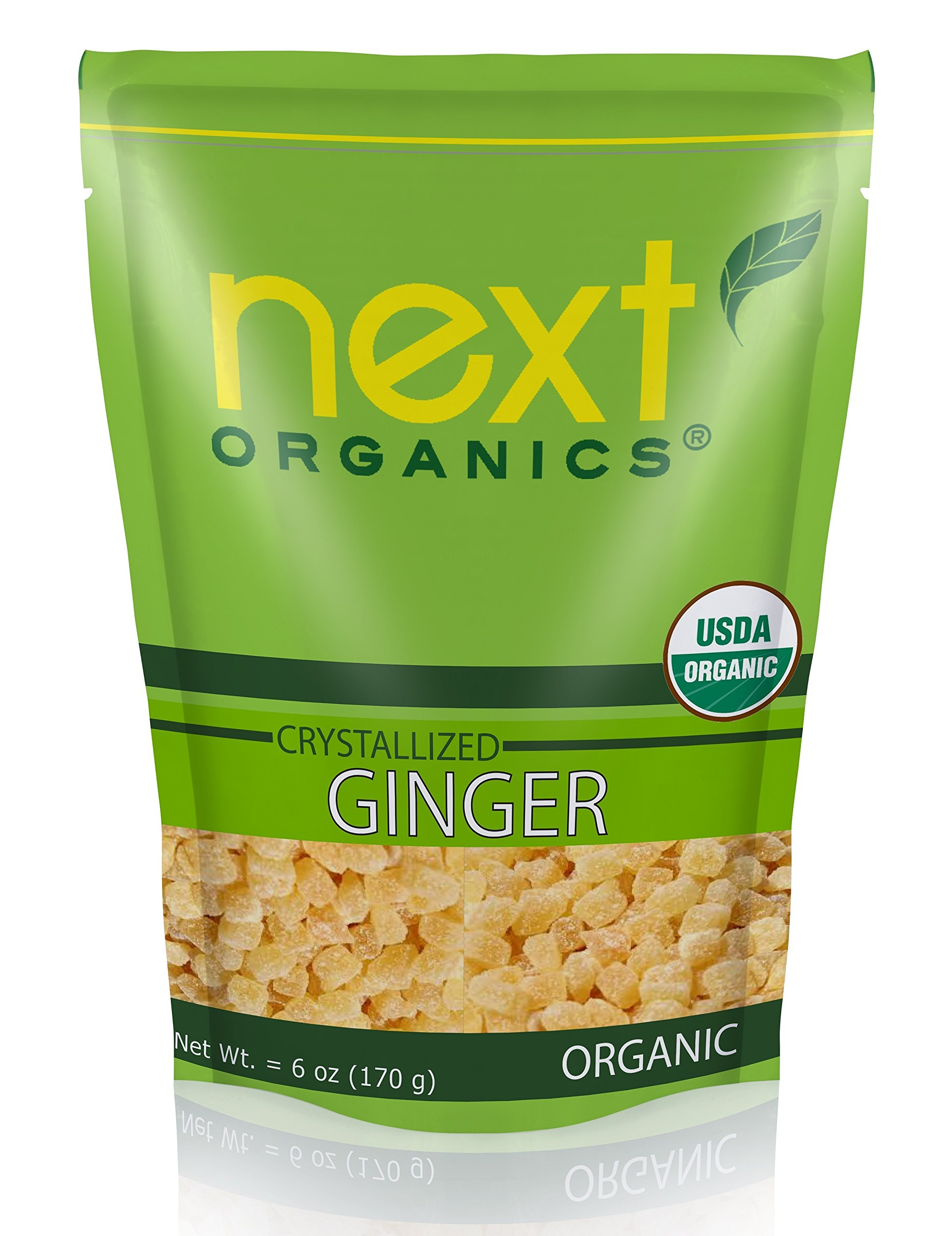 Next Organics Dried Crystallized Ginger, 6 Ounce