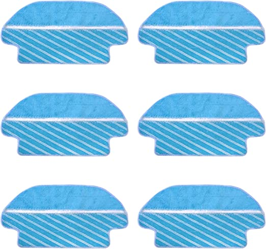 MIRTUX Kit de 6 MOPAS para Conga 3290 y 3490 Elite. Pack de Accesorios de Recambio para Robots aspiradora Conga con paños para Limpieza: Amazon.es: Hogar