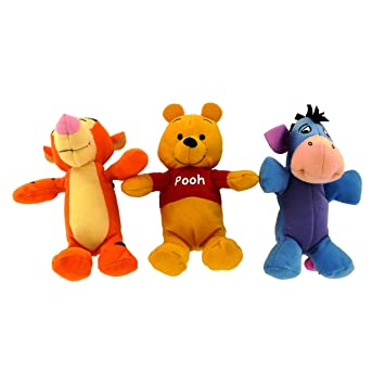 Winnie the pooh - Peluches Winnie, Tigger, Igor 10 cm (serie de 3