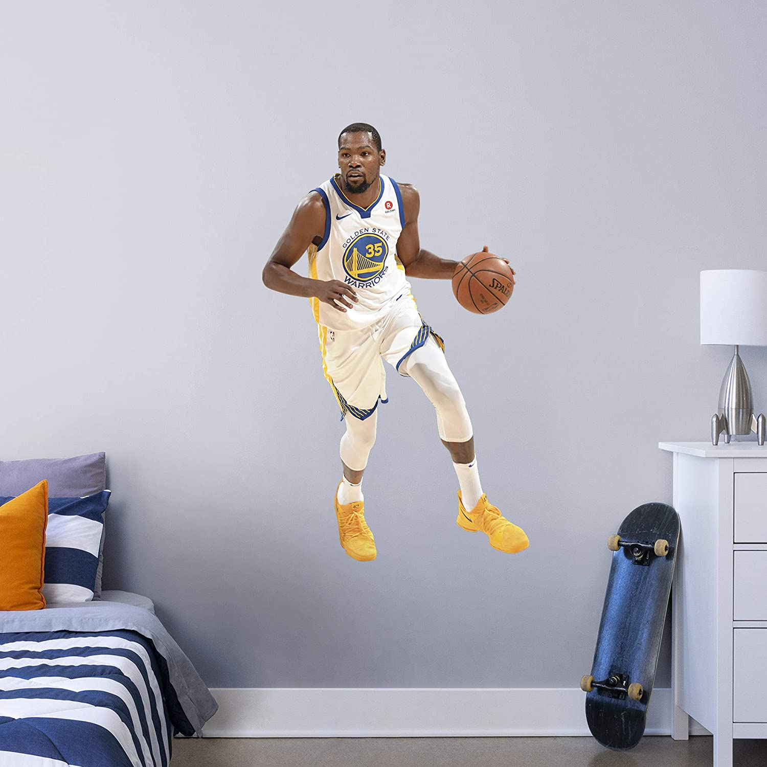 Fathead NBA Golden State Warriors Kevin Durant Kevin Durant- Officially Licensed Removable Wall Decal, Multicolor, Giant - 1900-00306-003