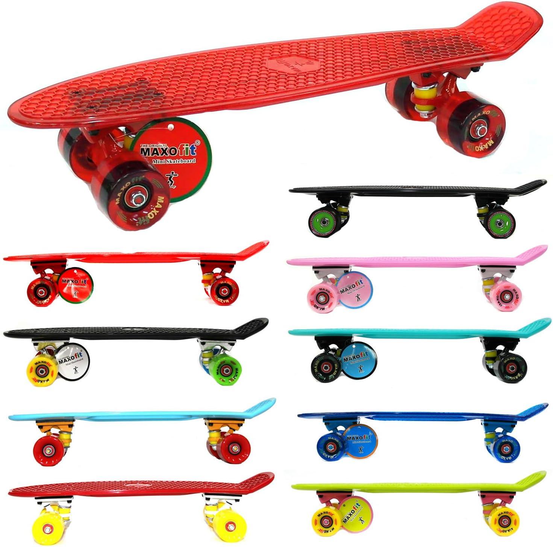 MAXOfit® Mini Skateboard Retro Cruiser 55 cm (22 Zoll) Komplettboard kaufen