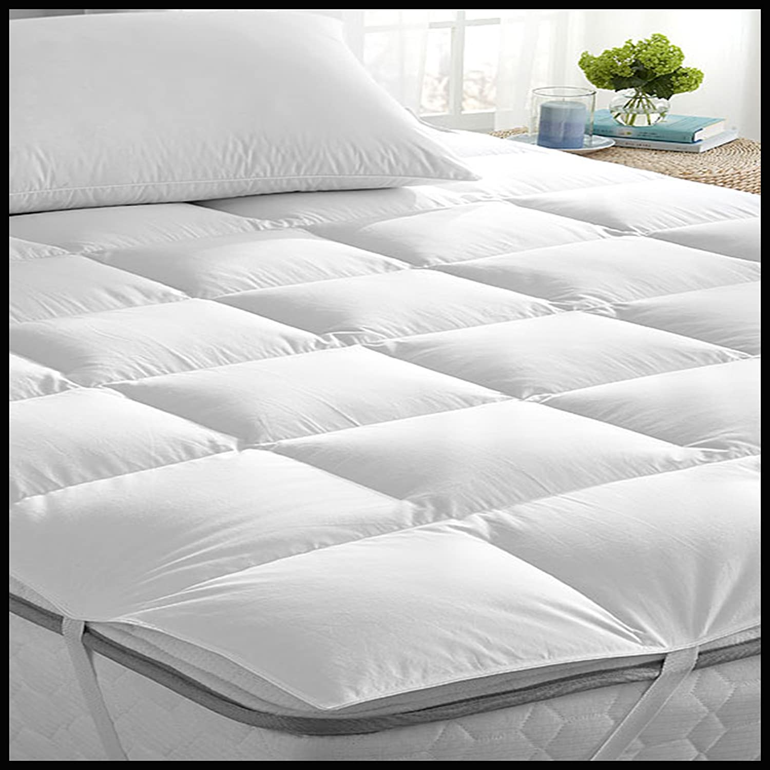 "Adam Home Mattress Topper 5 cm Deep Bed ""Microlite"" Microfibre Box"